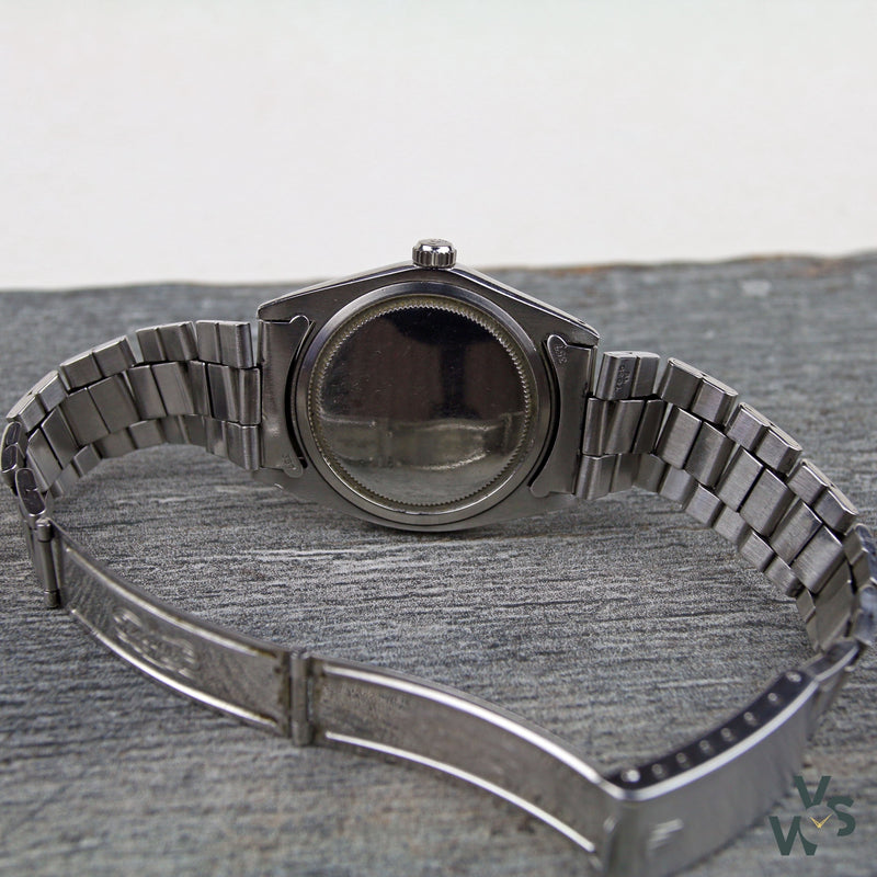 c.1969 Rolex Oyster Date Stainless Steel - Linen Dial Ref. 6694/0 - Vintage Watch Specialist