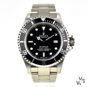c.1999 Rolex Sea-Dweller Date - Model Ref: 16600 - 'Swiss Made' Dial -Original Box - Vintage Watch Specialist