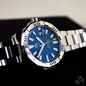 c.2019 Tag Heuer Aquaracer Reference WAY2012 - Calibre 5 - Vintage Watch Specialist