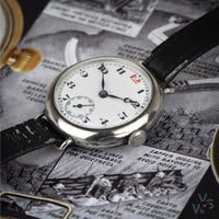 Charles Nicolet 1911 Sterling Silver WWI Officer's Trench Watch - Vintage Watch Specialist