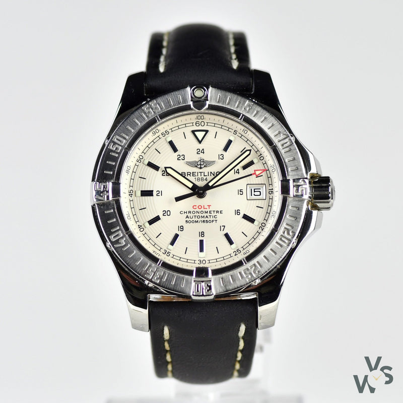 Breitling Colt II Automatic - White Dial - A17380 - Vintage Watch Specialist