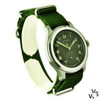 Cyma WWW Dirty Dozen Military Issue Watch - Stainless Steel - Cal. 234 - Vintage Watch Specialist