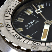 Doxa Automatic Sub 300T 'Sharkhunter' - Professional Divers' Watch - Black Dial c.1969 - Vintage Watch Specialist