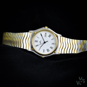 Ebel Classic Wave 183903 Gold/Steel - Box and papers - Vintage Watch Specialist