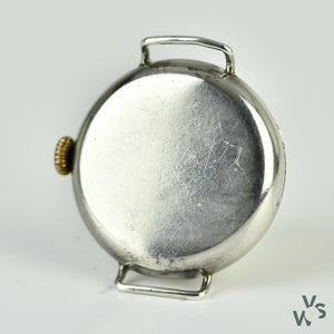 Elem WW1 Trench Watch - Silver Case - White Enamel Dial - c.1905 - Vintage Watch Specialist
