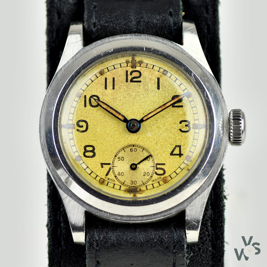 Enicar 'ATP' - c.1940s WWII-Issued British Military Watch - Vintage Watch Specialist
