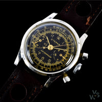 Eterna 'Baby' Chronograph c.1940s - Rare Calibre Valjoux 69 - Vintage Watch Specialist