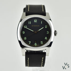Eterna Heritage Military Watch Steel Limeted Edition Model Ref: 1939.41.46.1298 - Vintage Watch Specialist