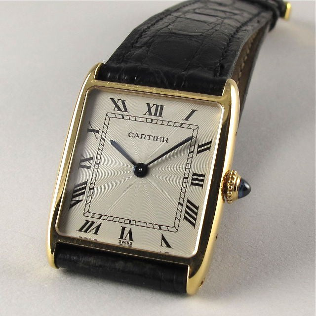 CARTIER TANK WRISTWATCH, 18K GOLD, 1980'S, CALIBRE 21