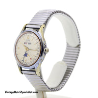 ENICAR ULTRASONIC AUTOMATIC, TRIPLE CALENDAR, MOON PHASE