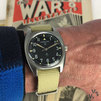 Hamilton W10 Cushion Cased Military Watch 1973 - Vintage Watch Specialist