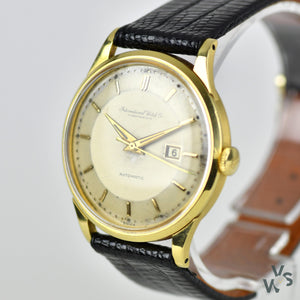IWC Schaffhausen 18 ct Automatic Gold Dress Watch with date- Pie Pan Dial - Cal 8531 - Vintage Watch Specialist
