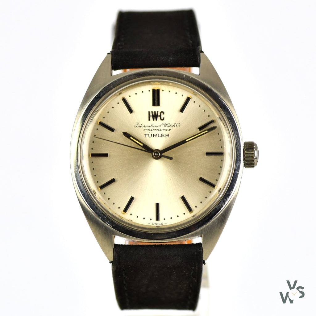 IWC Stainless Steel Turler - Vintage Watch Specialist