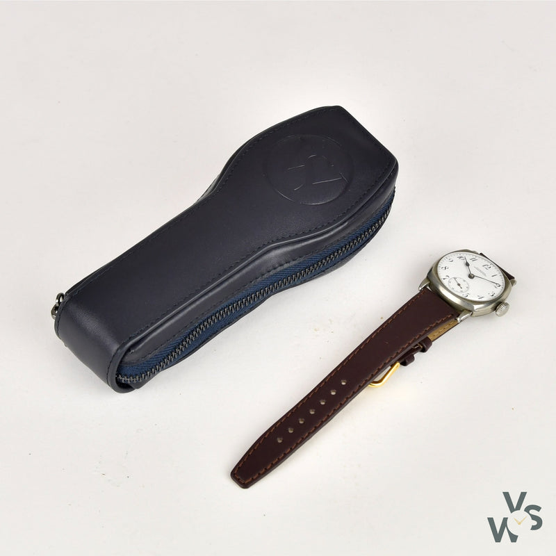 J.U. Munns - Canadian/US WW1 Officers Trench Watch - Cushion Case - Circa.1914 - Vintage Watch Specialist
