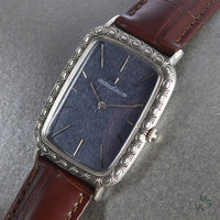 Jaeger Le Coultre Silver Tank Cased Dress Watch - Vintage Watch Specialist