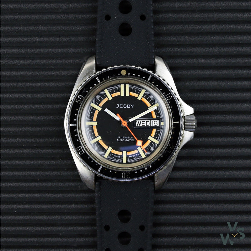 Jesby Automatic Divers Watch - Heuer Monnin 844 case (Brevet 503.305/MRPSA) - Vintage Watch Specialist