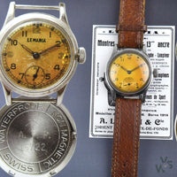 Lemania 'ATP' - Small seconds variant - c.1940s WWII-Issued British Military Watch - Vintage Watch Specialist