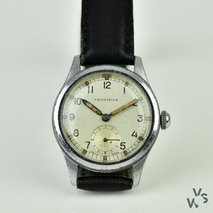 Lemania 'ATP' - Tropical dial - c.1940s WWII-Issued British Military Watch - Vintage Watch Specialist