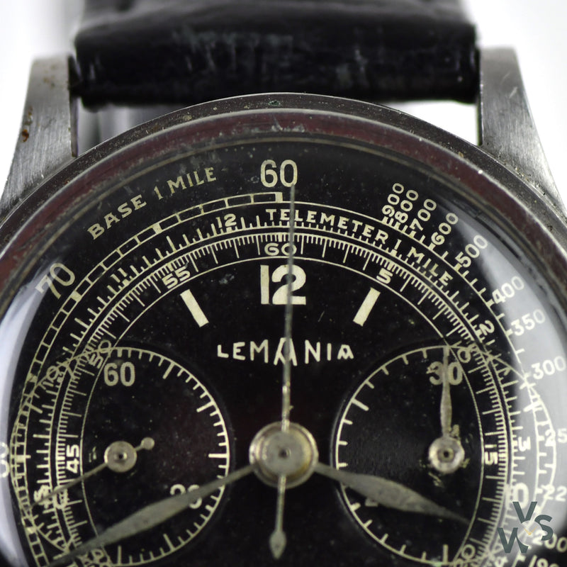 Lemania Chronograph Twin Pusher Cal.13CH2P - c.1940 - Vintage Watch Specialist