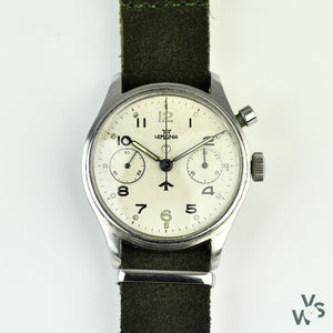 Lemania HS9 (0552/924-3305) - Monopusher Chronograph - Fleet Air Arm Military Issue - Vintage Watch Specialist