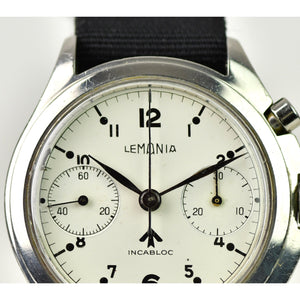 Lemania Single Pusher Chronograph - Royal Navy Nuclear Submarine Watch - C.1960s - Vintage Watch Specialist