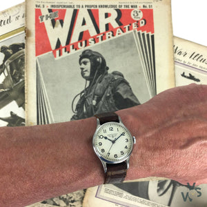 Longines 6B/159 WWII RAF-Issued British Military Watch - Off White Logo Dial - c.1941 - Vintage Watch Specialist
