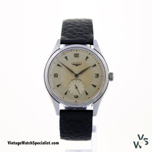 Longines Automatic Watch Seconds Sub Dial Calibre 22A 18 Jewels - Vintage Watch Specialist