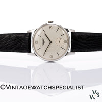 Longines Calatrava - Oversized - Stainless Steel Case - Calibre 30L - C1961 - Vintage Watch Specialist