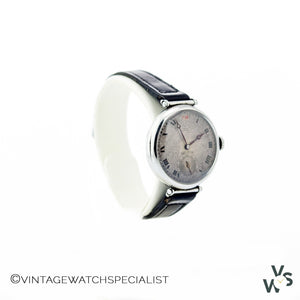 Longines Stainless Steel Trench Watch-Ww1 - Vintage Watch Specialist