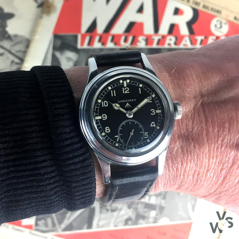 Longines - WWW 'Dirty Dozen' - c.1944 World War II Military Watch - Matching Lug and Case Numbers - Vintage Watch Specialist
