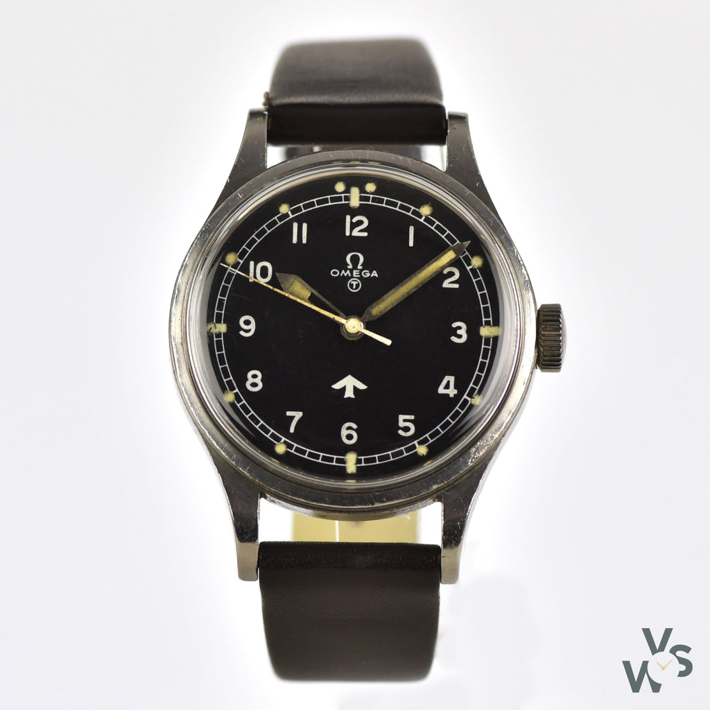 Omega 1953 'Fat Arrow' RAF-Issued Pilot's watch - Ref. 2777-1 - 6645 - 101000 6B/542 - Vintage Watch Specialist