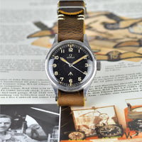 Omega 1953 'Thin Arrow' RAF-Issued Pilot's watch - Ref. 2777-1 SC - NATO 6645 - 101000 6B/542 - Vintage Watch Specialist