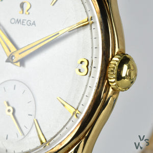 Omega - 9ct Carat Gold Dress Watch - c.1956 - Cal.267 - Dennison Case Ref.13339 - Vintage Watch Specialist