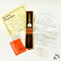 OMEGA CALIBRE 420 9K GOLD ALD CASE WITH ORIGINAL BOX AND PAPERS - Vintage Watch Specialist