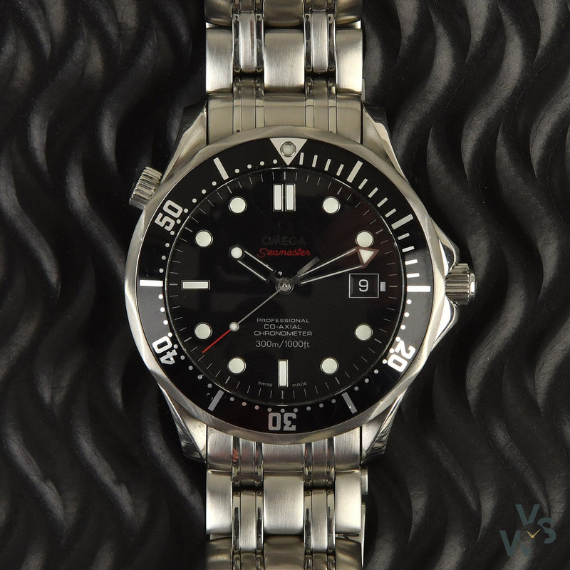 Omega Seamaster 300 Black Wave Dial - Vintage Watch Specialist