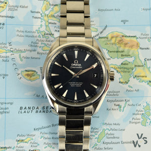 Omega Seamaster Aqua-Terra 150 - Model Ref: 231.10.42.21.03.003 - Blue Striped Dial - Vintage Watch Specialist