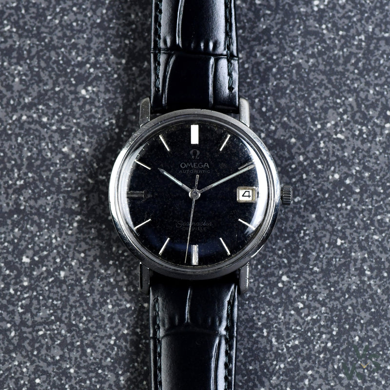 Omega Seamaster De Ville Automatic - Ref. 166.020 - Cal.562 - c.1963 - Black Dial - Vintage Watch Specialist