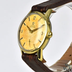 Omega Seamaster Ref. 14389-8 Gold Capped Tropical Dial - Cal.268 c.1960 - Vintage Watch Specialist