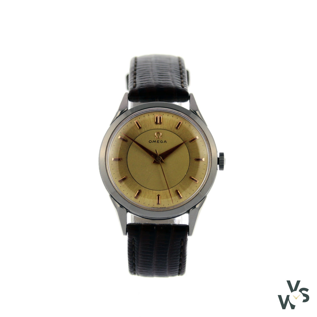 Omega Twin Tone Dial - Vintagewatchspecialist