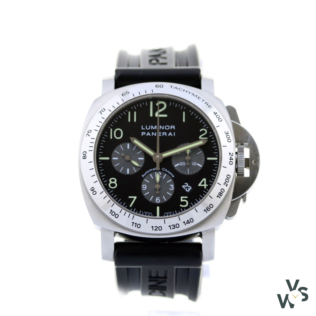 Panerai Automatic Chrono Pam 00162 2004 - 44Mm - Full Set - Vintagewatchspecialist