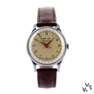 Pierce Triple Calendar Moon Phase - Vintagewatchspecialist