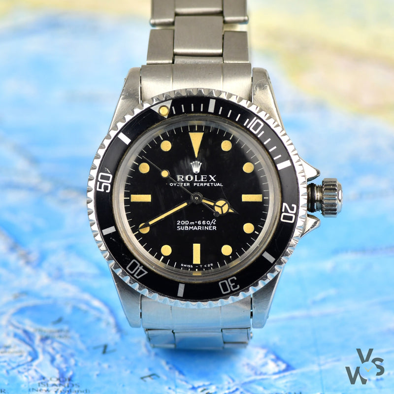Rare 1968 Rolex Submariner Ref. 5513 - Matte dial metres first - Military Naval Divers provenance - Vintage Watch Specialist