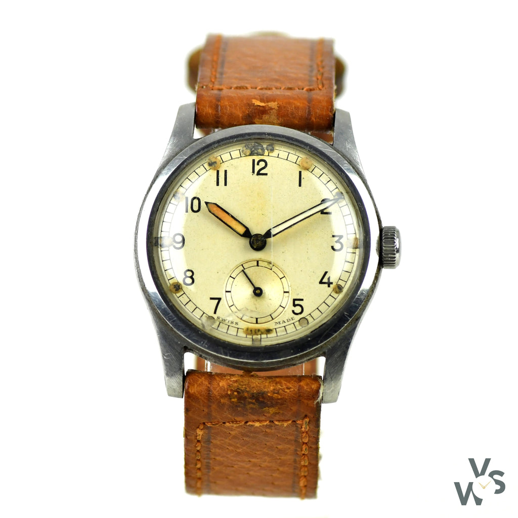 Record c.1940s ATP - Army Trade Pattern - British Army-issued WWII Watch - Vintage Watch Specialist