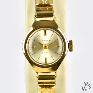 Regency Ladies 9ct Gold Ladies Cocktail Watch - Vintage Watch Specialist