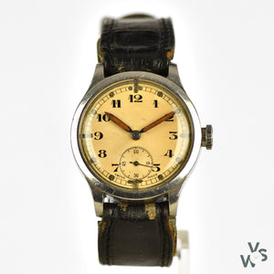 Revue 'ATP' Cal. 57 - c.1938 WWII-Issued British Military Watch - Tropical Dial - Vintage Watch Specialist