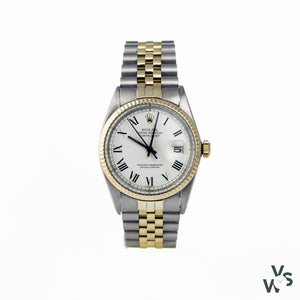 Rolex Datejust Buckley Dial 16013 - 1981 - Gold And Steel - Vintagewatchspecialist