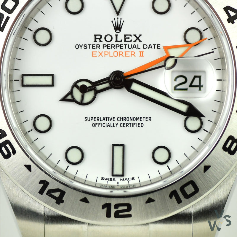 Rolex Explorer II Oyster Perpetual Date - Ref.216570 white dial - New and unworn box and papers - June 2020 - Vintage Watch Specialist
