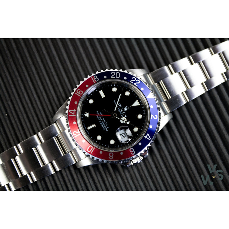 Rolex GMT Master-II Pepsi 16710 - 2006 - Box and Papers - Vintage Watch Specialist