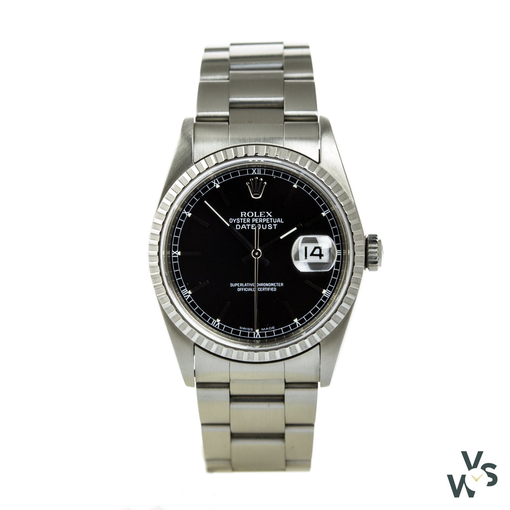 Rolex Oyster Perpetual Datejust 16220 - Vintagewatchspecialist