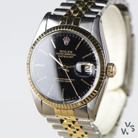 Rolex Oyster Perpetual Datejust Reference 16013 Gold & Steel - c.1978 - Vintage Watch Specialist